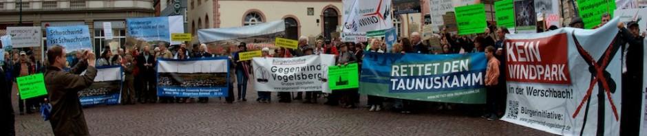 Gegenwind Vogelsberg mit Gruppen Ulrichstein und Werschbach und Vernunftkraft bei Demo in Wiesbaden 2013