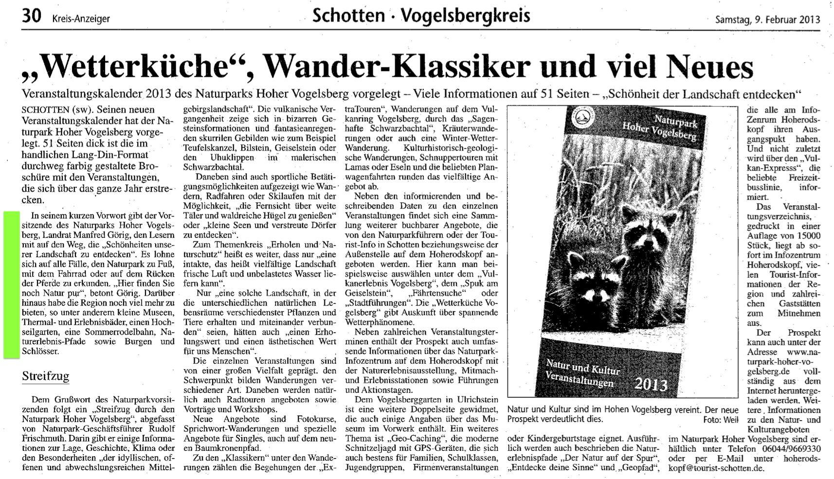 2013.02.09-KA-VB-Kreis-Veranstaltungskalender 2013 des Naturparks Hoher Vogelsberg