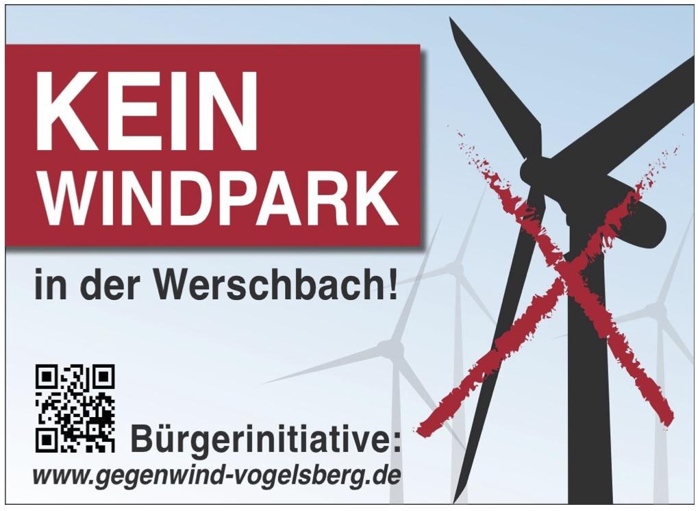 Kein Windpark in der Werschbach - Gegenwind Vogelsberg, Gruppe Metzlos-Gehaag und Jossa