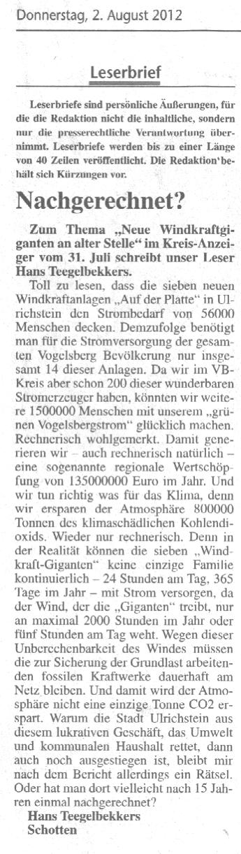 2012.08.02 KRAZ Leserbrief Hans