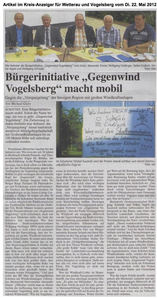 Schotten, Gründung Gegenwind Vogelsberg, Gruppe Schotten