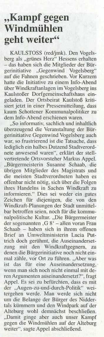 Leserbrief Kaulstoß