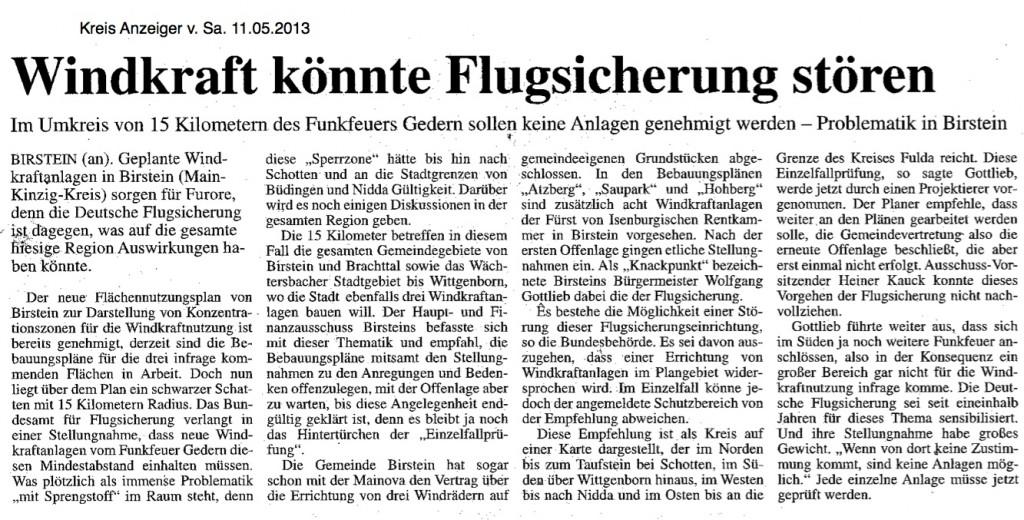 2013.05.11-KA-Birstein-Windkraft könnte Flugsicherung stören