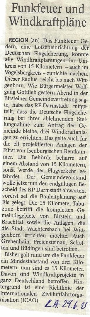 Funkfeuer Gedern LA 29.6.13, Zwirnberg, Oberwald