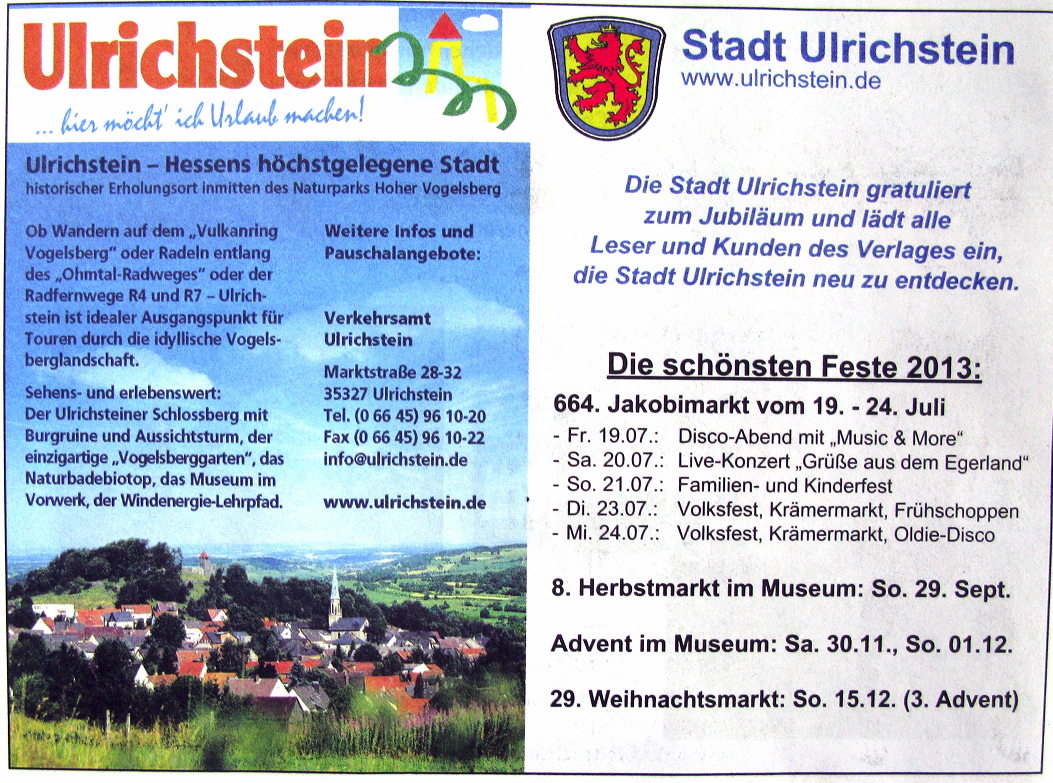 """Stadt Ulrichstein wirbt für Tourismus. Die vielen """"Windparks"""" sind nicht zu sehen"""