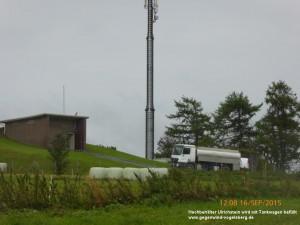 Tankwagen liefert Ersatz für kontaminiertes Trinkwasser Ulrichstein