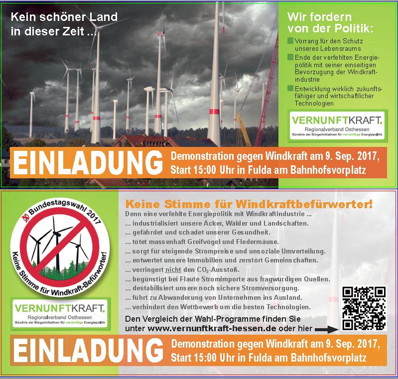 2. Demo in Fulda vor der Bundestagswahl: Samstag, 09.09.2017