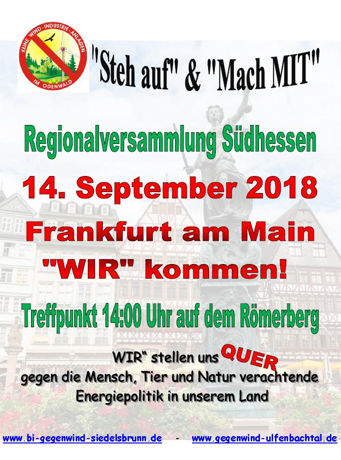 2018-09-14 Demo in Frankfurt anlässlich der Regionalversammlung Südhessen