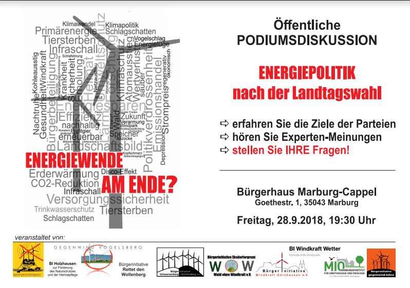 2018-09-28 Podiumsdiskussion Marburg