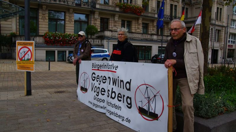 Anti-Windkraft-Demo Wiesbaden, September 2018 (Foto: Gegenwind Vogelsberg, Gruppe Engelrod)