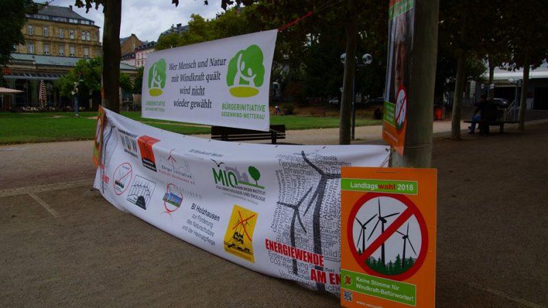 Anti-Windkraft-Demo Wiesbaden, September 2018 (Foto: Gegenwind Vogelsberg, Gruppe Engelrod)