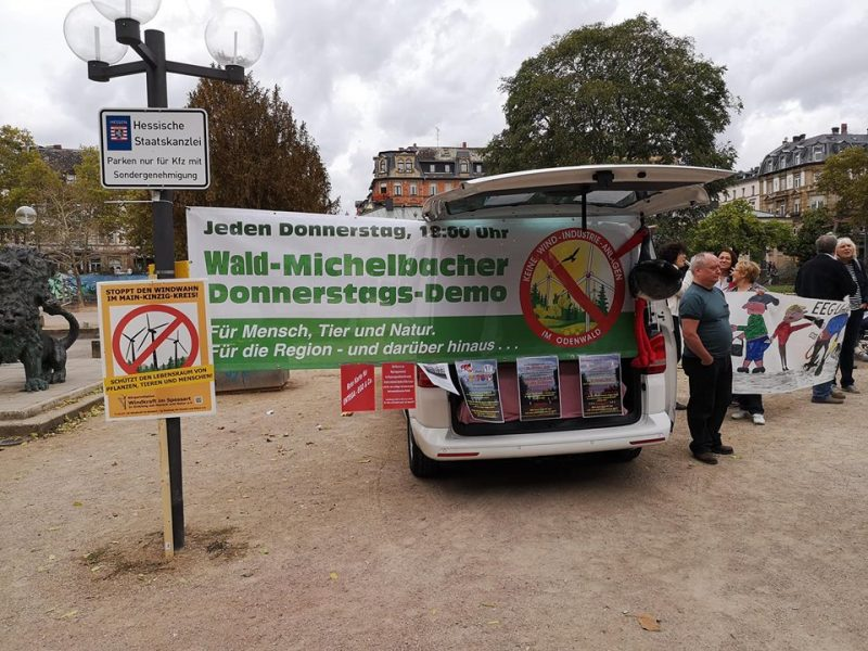 Anti-Windkraft-Demo Wiesbaden, September 2018 (Foto: M. Klotzsche)
