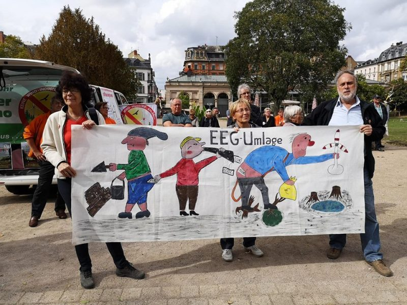 EEG-Umlage - Anti-Windkraft-Demo Wiesbaden, September 2018 (Foto: M. Klotzsche)