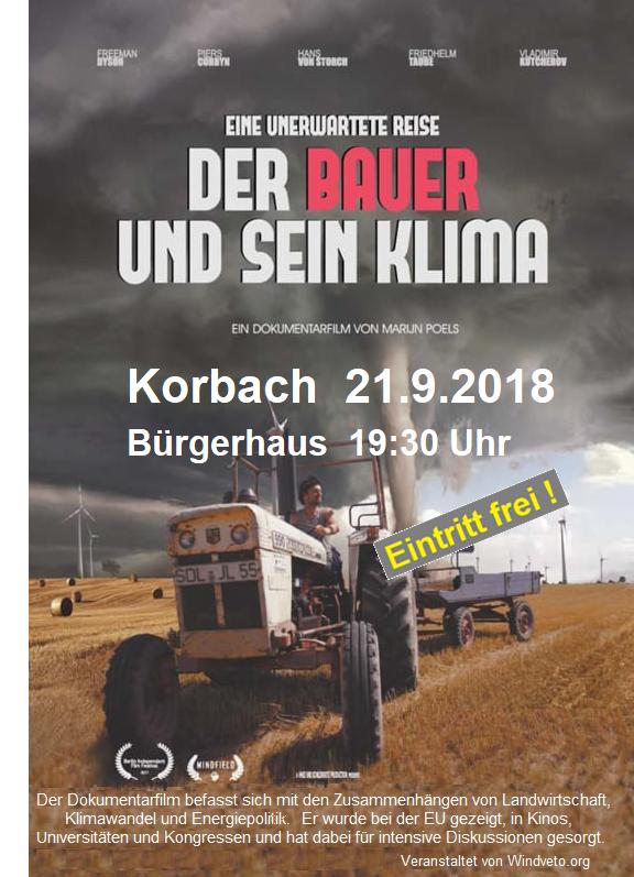 """""""Der Bauer und sein Klima"""", Filmvorführung in Korbach"""