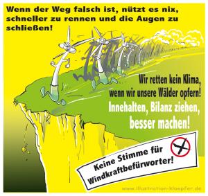 Die Windkraft-Lemminge von Jeanne Köpfer - Hessenwahl 2018 - Landtagswahl