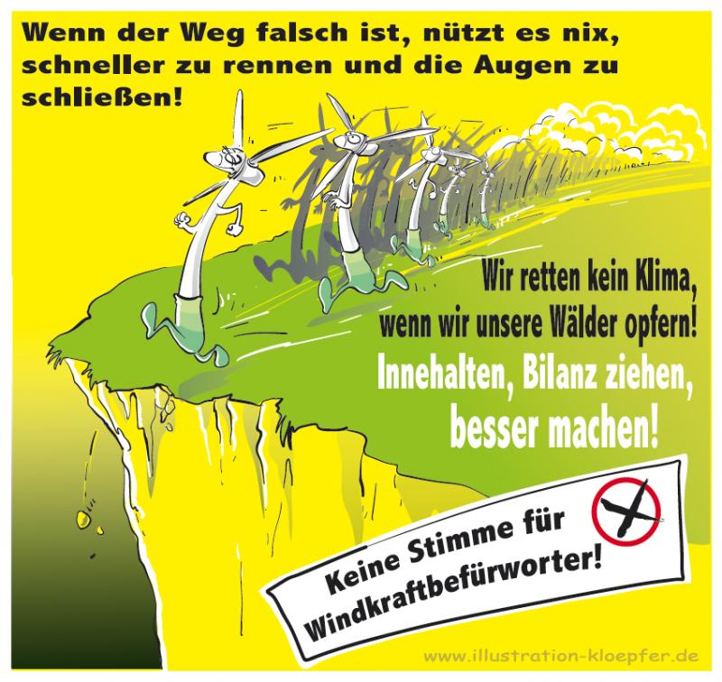 Windkraft-Lemminge - keine Stimme für Windkraftbefürworter - Landtagswahl Hessen 2018
