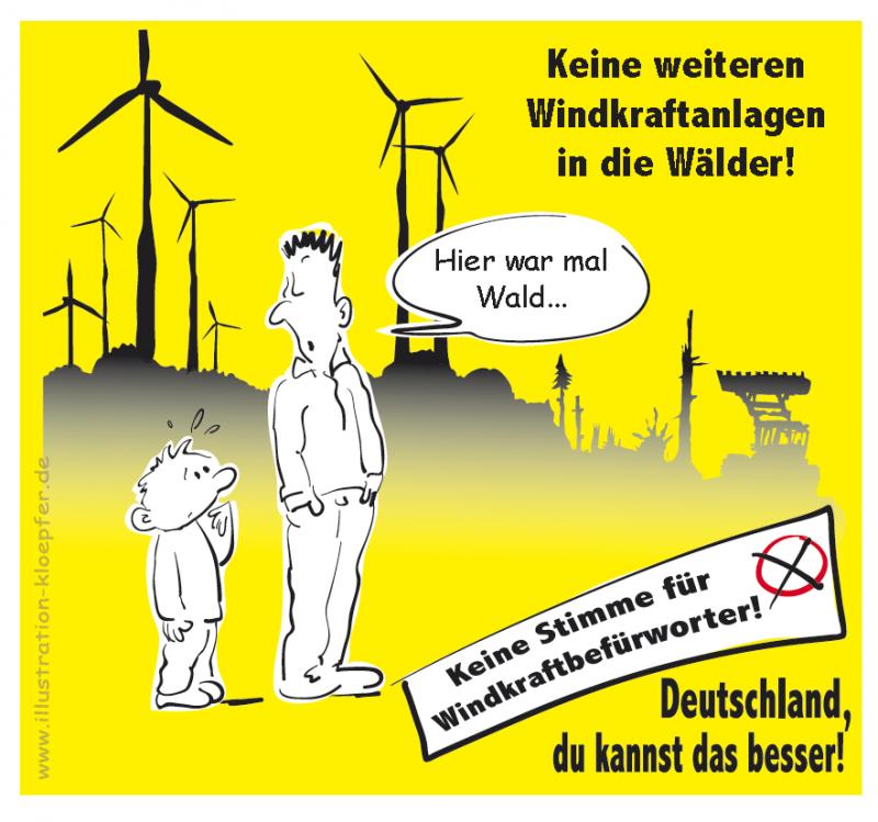 Windkraft: Hier war mal Wald - Jeanne Klöpfer - Hessenwahl 2018 - Landtagswahl Hessen 2018