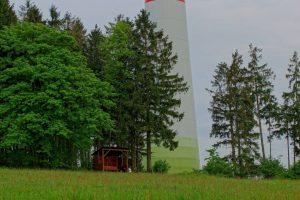 Schutzhütte Windfarm Platte bei Ober-Seibertenrod (Stadt Ulrichstein) im Vogelsberg - Foto: Hermann Dirr, Gegenwind Vogelsberg, Gruppe Engelrod