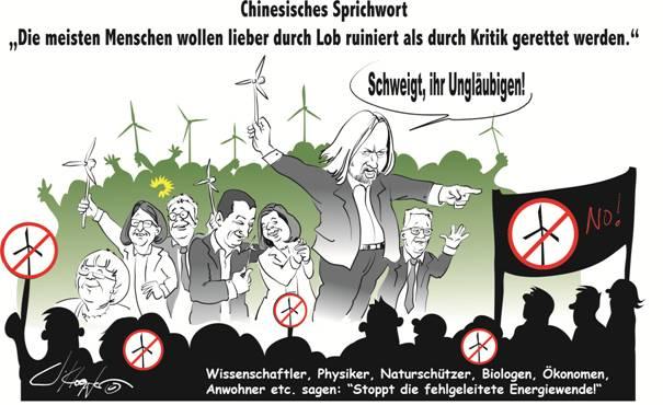 Grüne (die Grünen), Windkraft (Windpark Windenergie Windfarm Windrad WKA WEA), Priska Hinz, Tarek Al-Wazir, Anton Hofreiter, Winfried Kretschmann - Jeanne Klöpfer - https://www.illustration-kloepfer.de/
