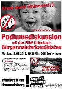 2019-02-18 Podiumsdiskussion Windkraft Gründau Bürgermeisterwahl Main-Kinzig-Kreis